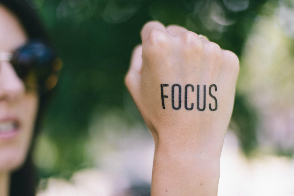 Focus - staying on topic during presentations to the c-suite is essential.