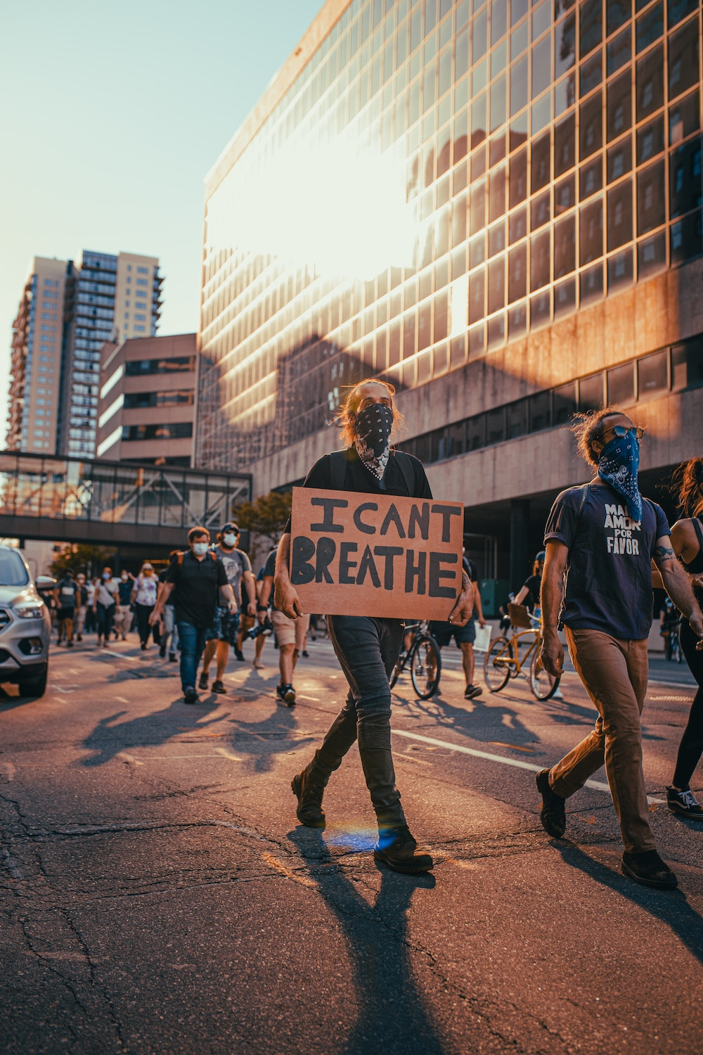 """close with a clear call to action, like """"go out and protest, make change in the world"""""""